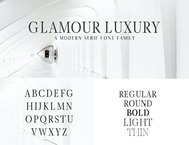 glamour luxury web font alternative to georgia