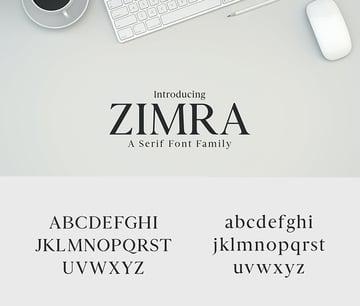 zimra serif font family 5 weight similar to Georgia
