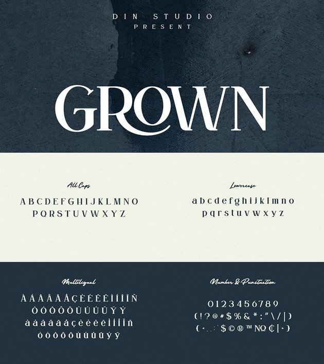 grown typeface similar georgia multilingual otf ttf web font