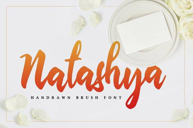 Natashya - Hand-drawn Brush Font