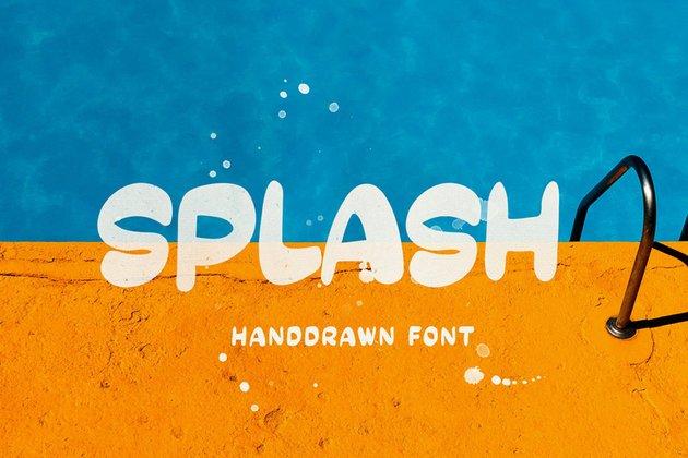 SPLASH - Handdrawn Font