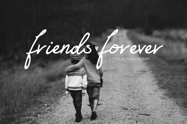Friends Forever Font + Floral Extras