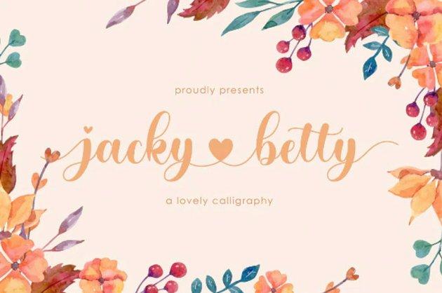 jacky betty   Lovely Calligraphy