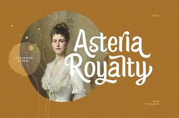 Asteria Royalty - Handwriting Font