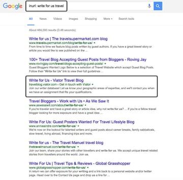 Google inurl operator