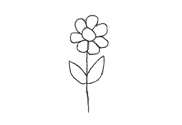 Drawing Exercises for Beginners Tutorial Draw a Flower Step 5