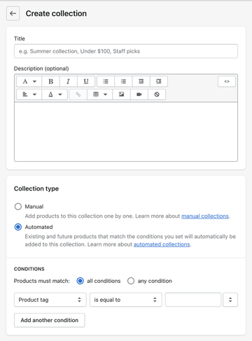 how to add product to collection shopify