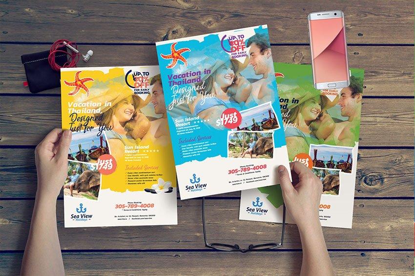leaflet flyer mockup sample brochure format