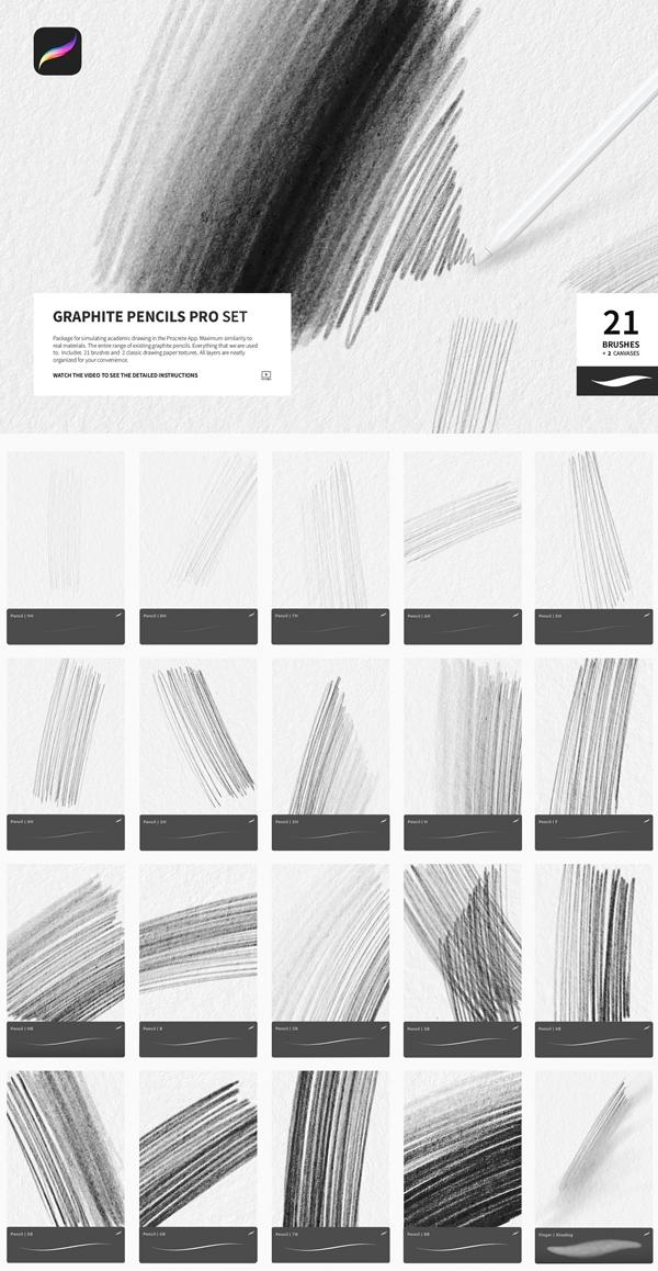 Graphite Pencils for Procreate