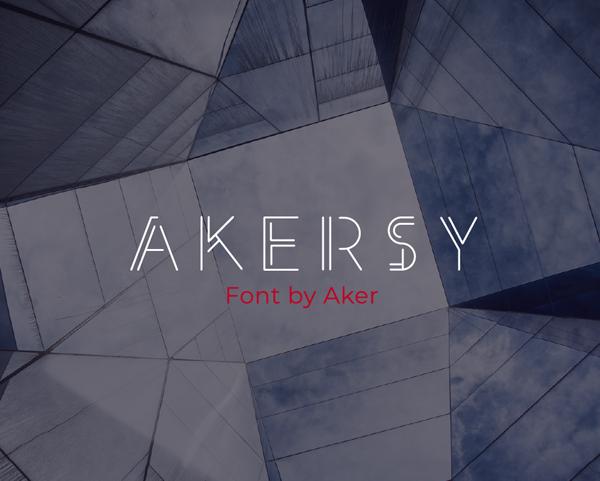 Akersy Free Font