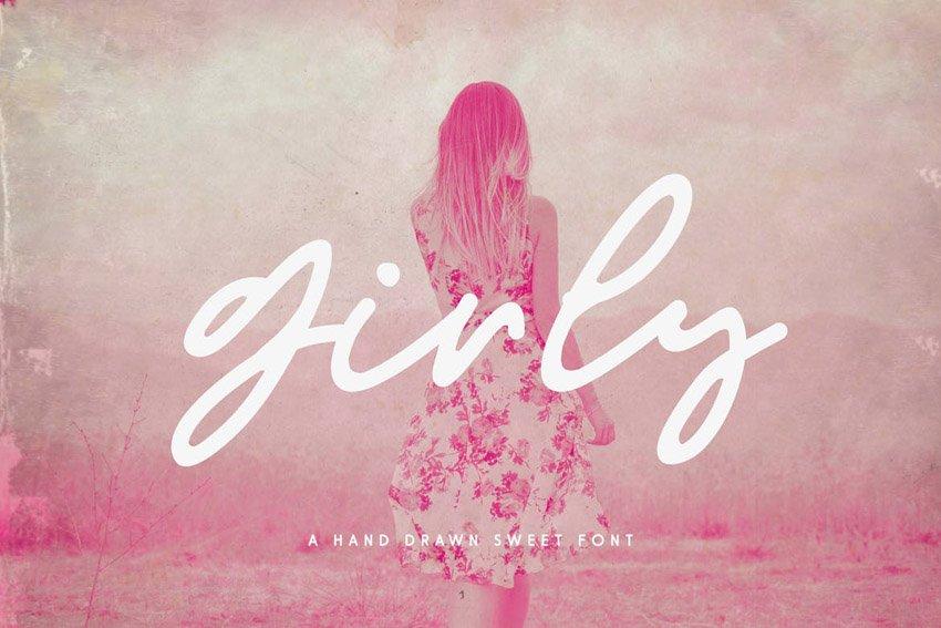 Girly Feminine Script Font