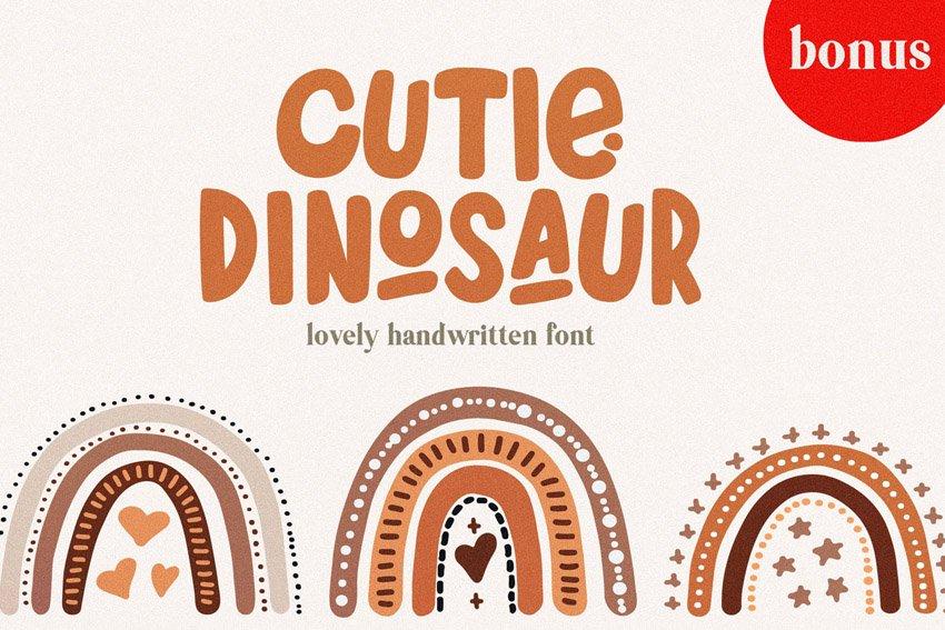 Cutie Dinosaur Font + Bonus