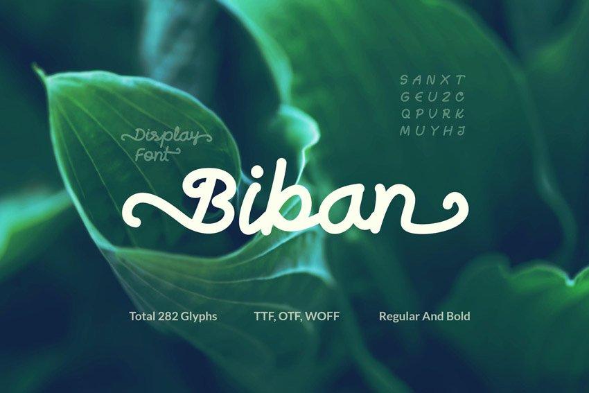 Biban Handwritten Script