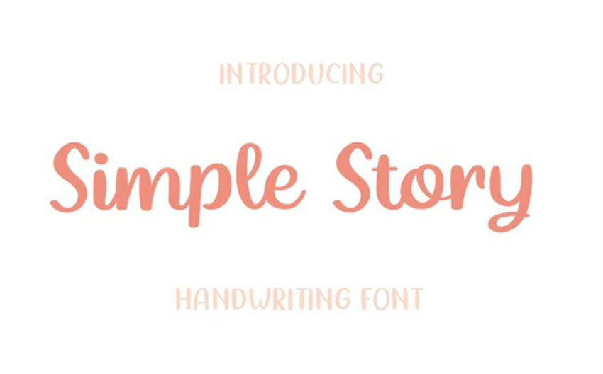 Simple Story - Handwriting Font