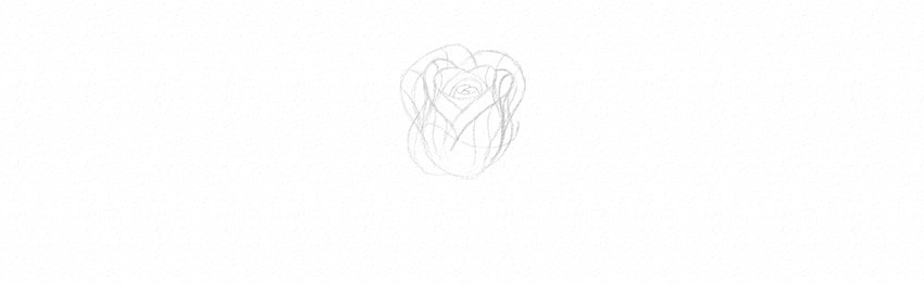 How to Draw a Rose With Pencil Tutorial flowers in perspective