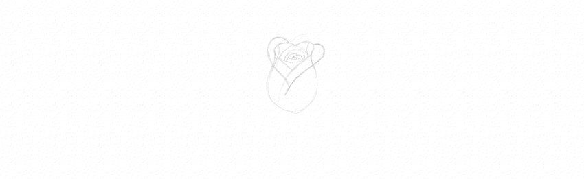How to Draw a Rose Step by Step Tutorial simple rose drawing