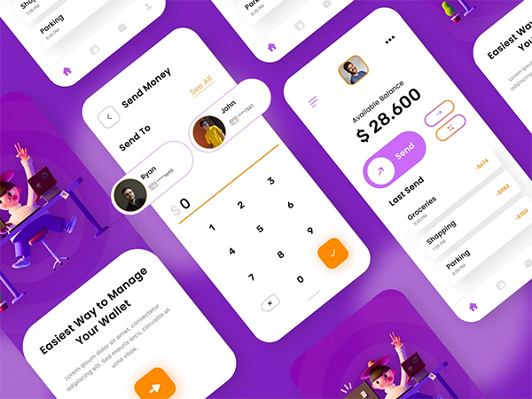 Free E Wallet Concept UI Kit
