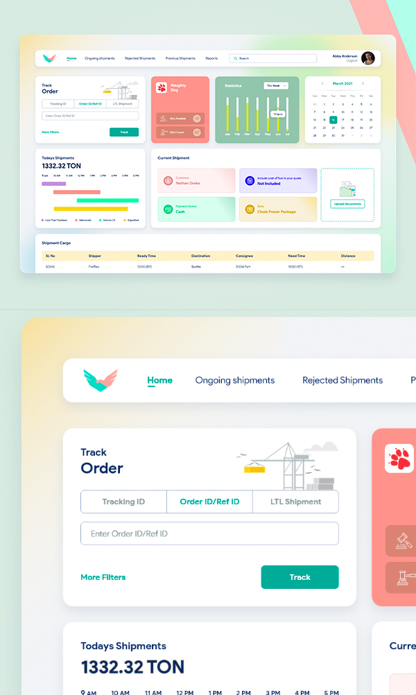 Free Shipment Dashboard - UI Kit Freebie