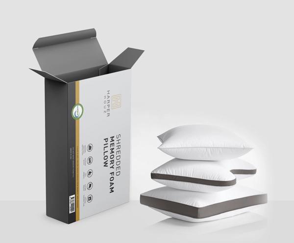 Foam Pillow Packaging Mockup