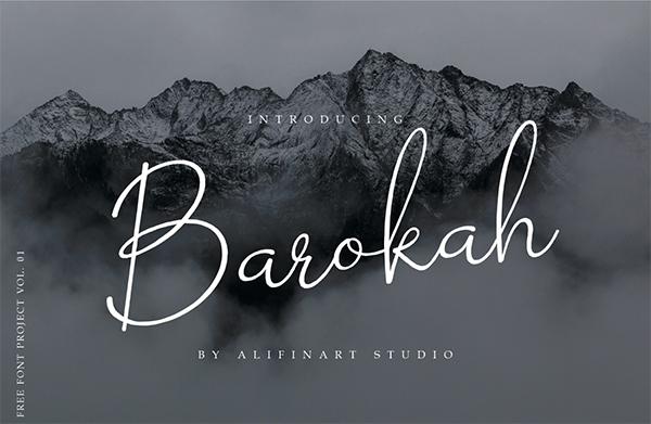 Barokah Signature Logo Font Free Logo Font