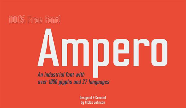 Ampero Logo Font Free Logo Font