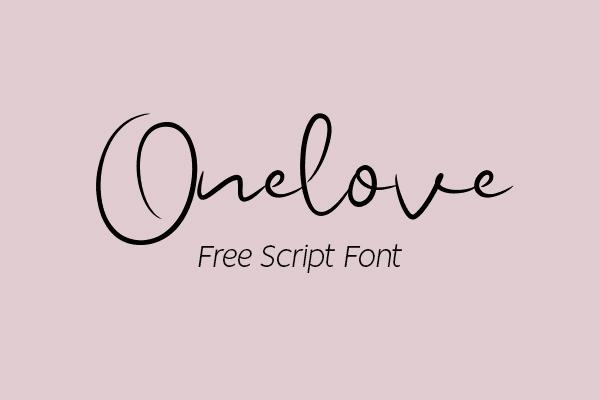 Onelove Script Logo Font Free Logo Font