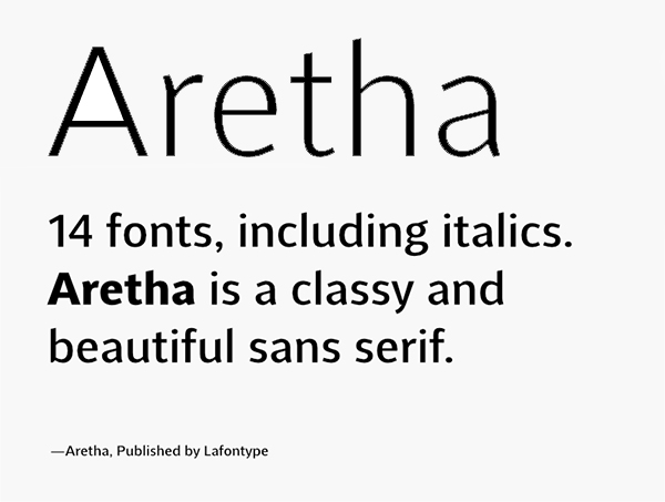 Aretha Logo Font Free Logo Font