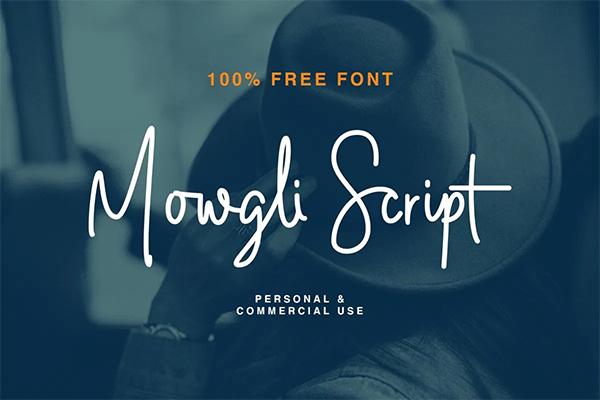 Mowgli Script Logo Font Free Logo Font