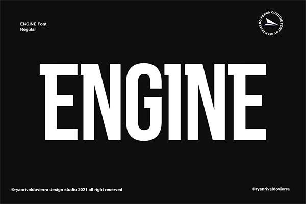 Engine Logo Font Free Logo Font