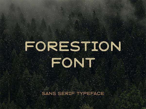 Forestion Logo Font Free Logo Font