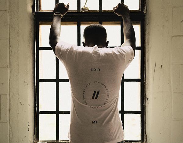 Black Man T-Shirt Mockup
