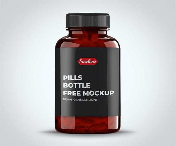 Pills Bottle Free Mockup