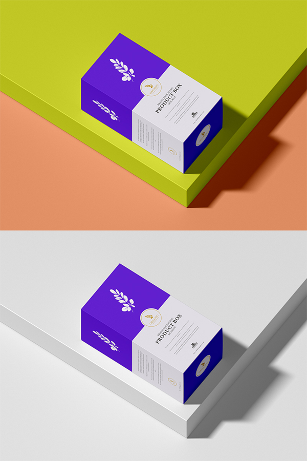 Free Packaging Product Box Mockup