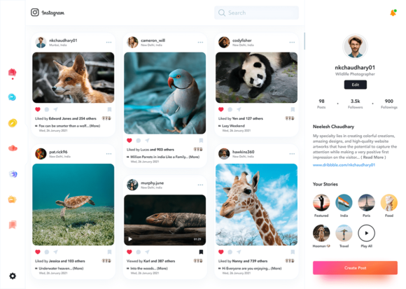 Instagram redesign preview