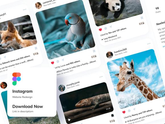 Instagram website redesign - Figma template