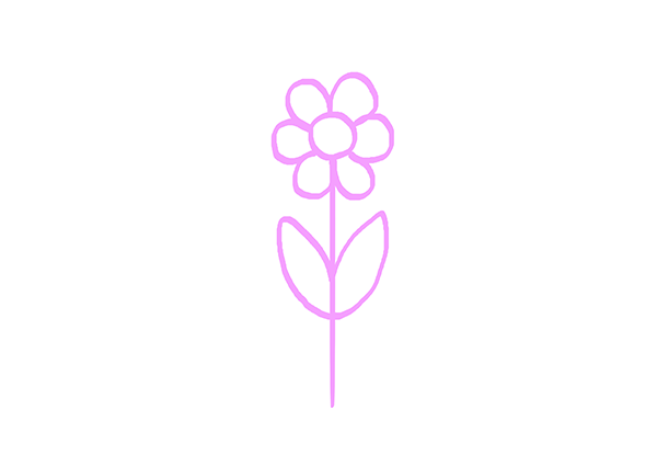 Drawing Exercises for Beginners Tutorial Draw a Flower