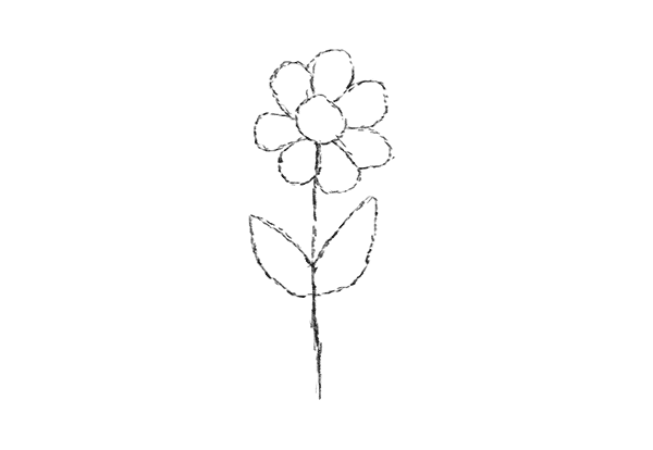 Drawing Exercises for Beginners Tutorial Draw Flower Step 4