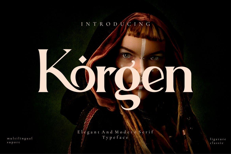Korgen - Serif Font Font
