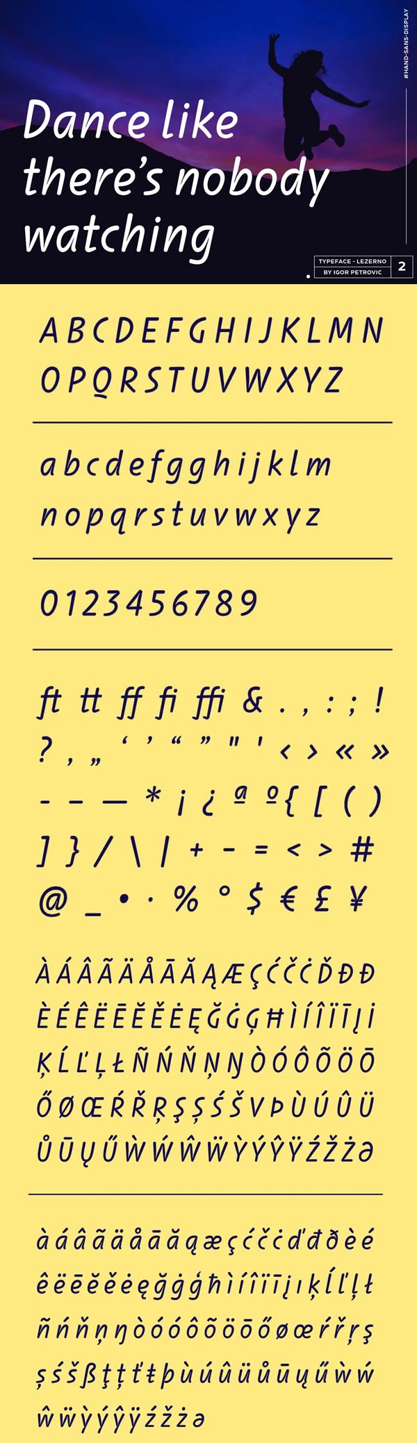 Lezerno Font