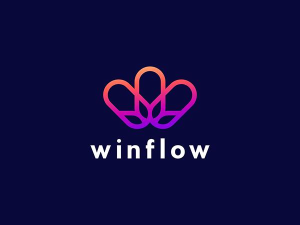 W Minimal Letter Logo Design