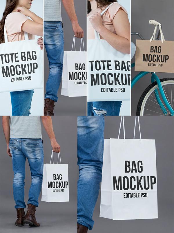 Tote Bag Mockup Set