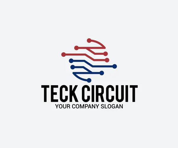 Tech Circuit Logo Template
