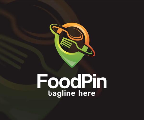 Food Pin Logo Template