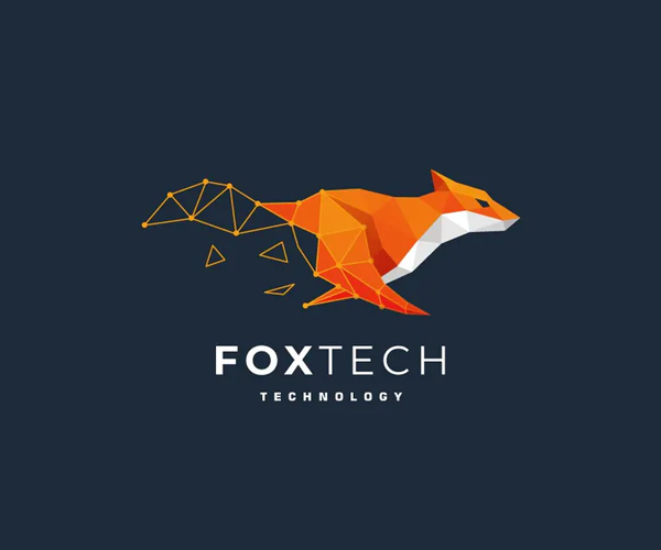 Fox Tech Colorful Logo Template