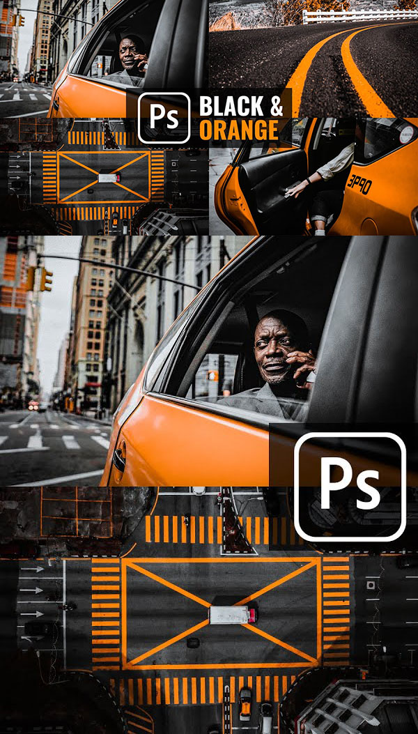 How to Create Black & Orange Presets - Color Grading Effect in Photoshop Tutorial