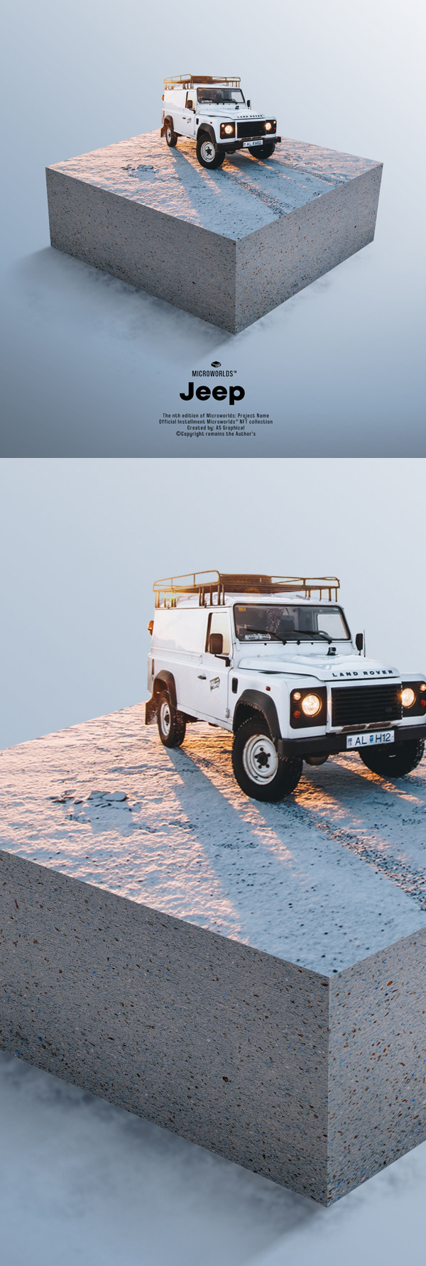 Learn How to Create Travel Jeep Photoshop Microworld in Photoshop