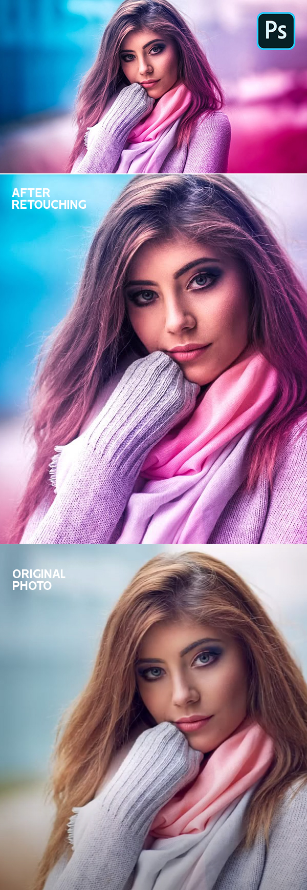 How to Create Colorize Portrait With Beautiful Gradients in Photoshop Tutorial