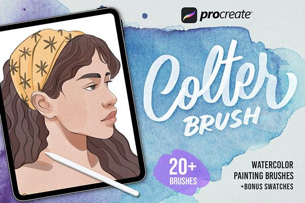 Procreate Colter Brush - Watercolor