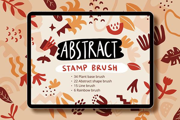 Procreate Abstract Shape Stamp Brush set