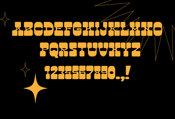 Psychedelic Cowboy Font